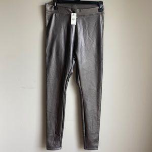 NWT Express metallic leggings small